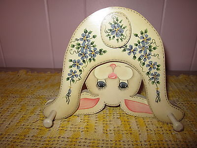 Handcrafted Rabbit Wall Hanging With Two Hooks