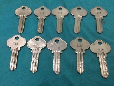 Sargent By Curtis Ilco S16 Keyway Key Blanks Set Of 10 - Locksmith