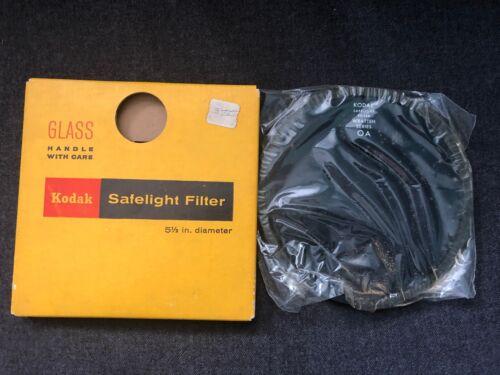 "Vintage KODAK Safelight Filter 5 1/2"" w/ Box WRATTEN SERIES OA Brown"