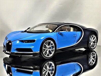 Gt Autos Welly Gta Bugatti Chiron 2016 Blue Hypercar Diecast Model Car 1 18