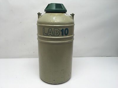 Mve Lab 10 Aluminum Cryogenic Dewar 10-liter Liquid Nitrogen Storage