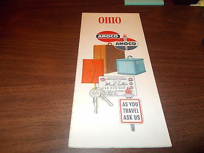 1960 Amoco OHIO Vintage Road Map