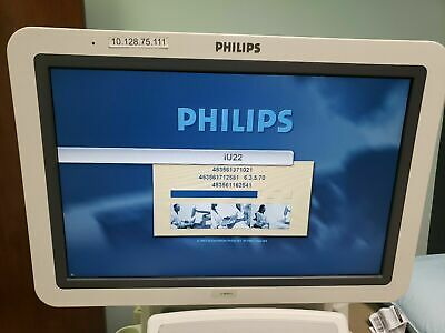 Philips Iu 22 Ultrasound Machine F Cart Excellent Condition Working Perfectly