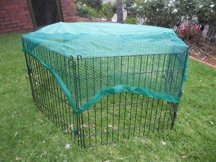 6 Panel Pet Dog Puppy Rabbit Enclosure Play Pen Cover