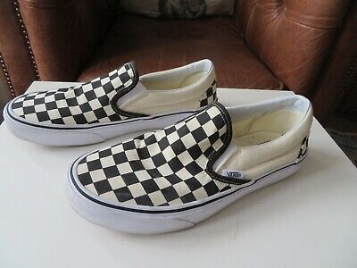 Vans off the wall Black and white check slip on shoes size 6.5