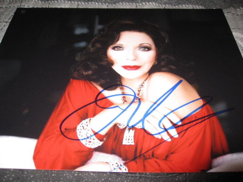 JOAN COLLINS SIGNED AUTOGRAPH 8x10 PHOTO HOLLYWOOD LEGEND PROMO IN PERSON COA D