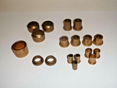 Lot of Used Oil Impregnated Bronze Bushings 1/2x3/4  1x1 1/4  5/8x7/8  3/8x1/2