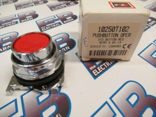 Cutler Hammer 10250T102, Series A1, Red, Push Button Operator- NEW-B