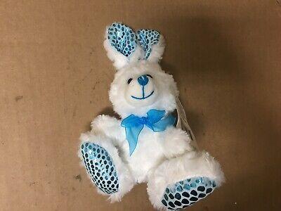 Big Bunny Ears (Easter Bunny SHINY BLUE EARS  WHITE BUNNY BIG BLUE NOSE)