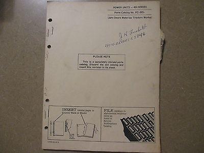 John Deere 404 Engine Power Units Parts Manual