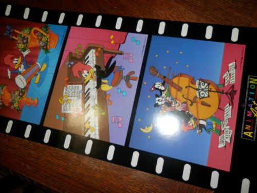 """WOODY WOODPECKER Musical POSTER 27x13"""" 1992"""