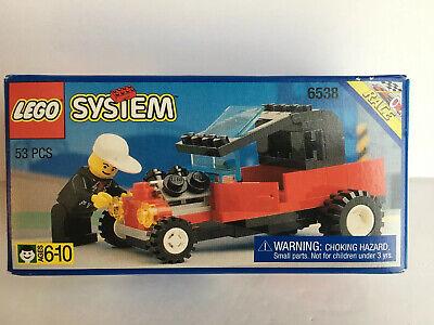 Vintage 1994 LEGO Town Rebel Roadster 6538 Racing Hot Rod Set Rare New Box Bent