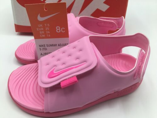 Nike Sunray Adjust 5 TD Pink Toddler Sports Sandals Size 8C