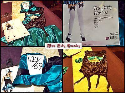 Alice In Wonderland Tea Party Cosplay Burlesque Hallowen Costume Size - Tea Party Costume