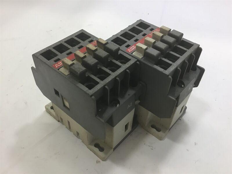 LOT OF 2-- ABB N31E CONTACTOR 110-120V COIL