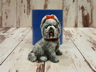 """""""Shih Tzu dog"""" silicone mold for soap and candles making mould molds"""