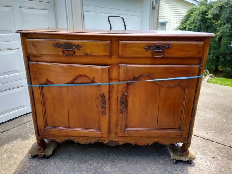 Rare 18th century French Provincial Buffet with 2 Drawers and 2 Doors