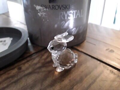 Swarovski Crystal Sitting Rabbit Figurine w/box