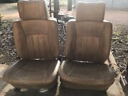 Front Commodore bucket seats with sheepswool car seat covers Gawler East Gawler Area Preview