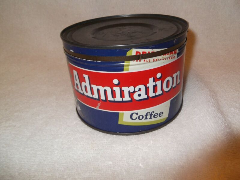Vintage Admiration Coffee Tin Duncan Coffee Co 100 % Pure