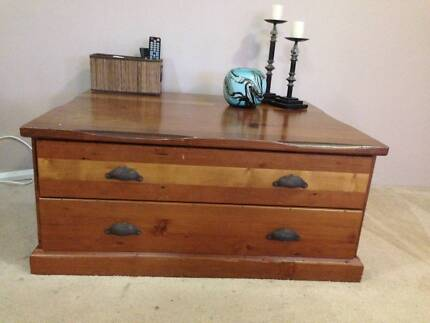 Coffee Table Chest 4 draw Croydon Burwood Area Preview