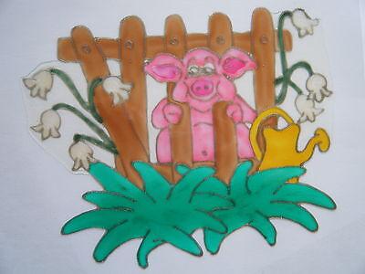PIG FARM ANIMAL WINDOW PICTURE DECORATION STICKER DECAL