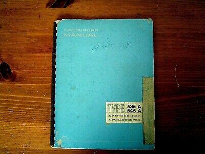 Tektronix Rm545b Oscilloscope Instruction And Service Manual 1964