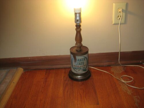 Quaker State Motor Oil LAMP Man Cave Auto Tech Bachelor Pad