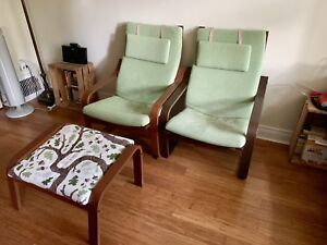 IKEA Poang chairs & foot rest