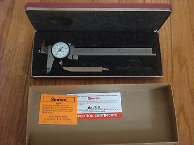Starrett 120jz-6 Dial Caliper Stainless Steel Offset Jaw White Face 0-6