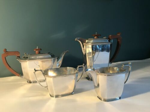 Solid silver Art Deco tea and coffee service by Mappin & Webb