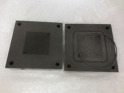 25cm2 Titanium Single Cell Fuel Cell Test Fixture Serpentine Flow Field Set8