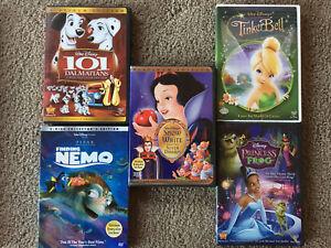 5 Disney DVDs