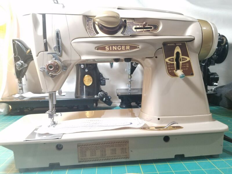 Singer 500A Sewing Machine Slant O Matic  Rocketeer! Ready to sew.