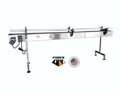 Furex Stainless Steel 12 X 4 Inline Conveyor With Plastic Table Top Belt