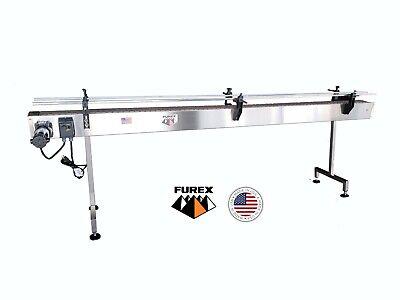 Furex Stainless Steel 12 X 4 Inline Conveyor With Plastic Table Top Belt