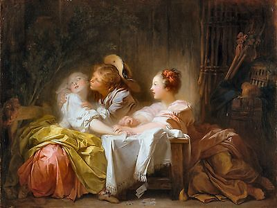 The Stolen Kiss by Jean Honore Fragonard 1760 French Old Masters 11x14 Art (The Stolen Kiss By Jean Honore Fragonard)