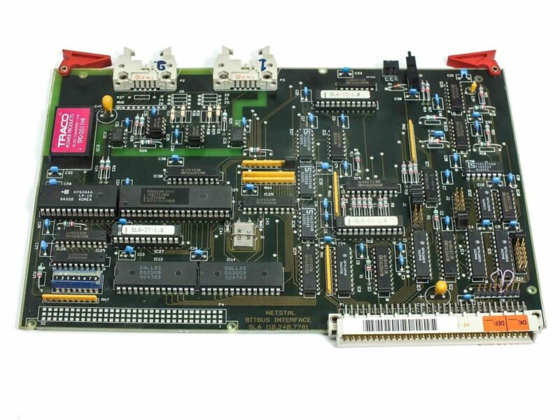 SLA Netstal Sycap Bitbus Board 100.240.7780 DiskJet Injection Molder 600/110
