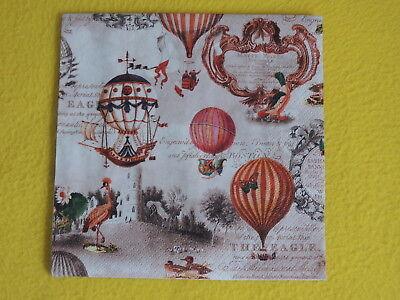 GE BALLONS Serviettentechnik Motivservietten nostalgie schri (Vintage-ballons)