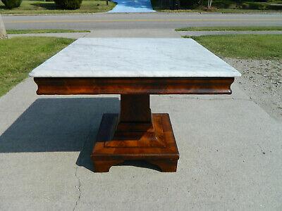 Mahgoany Empire Marble Top Center Table ()