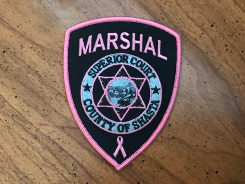Shasta County Marshal Superior Court Ca PINK Breast Cancer Awareness Patch