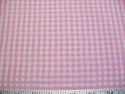 """Used, 1/8"""" Pink White Gingham Woven Fabric 60"""" Wide - by the Yard for sale  Shipping to Canada"""