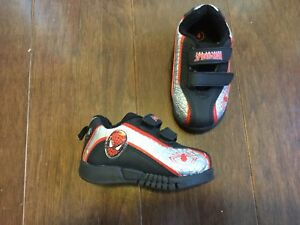 Spiderman velcro sneakers, infant size 4