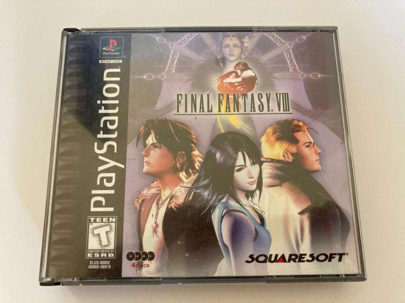 Sony PlayStation 1 PS1 - FINAL FANTASY VIII 8 - 1999 Black Label - Complete Test