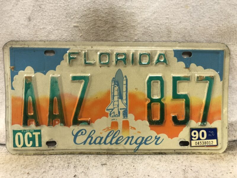 1990 Florida Challenger License Plate