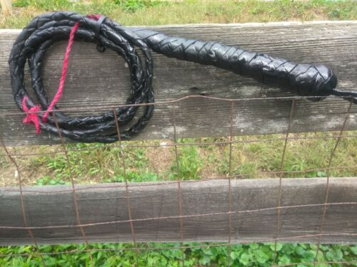 Bullwhips Genuine Braided Leather 6ft. Bullwhip Real Leather
