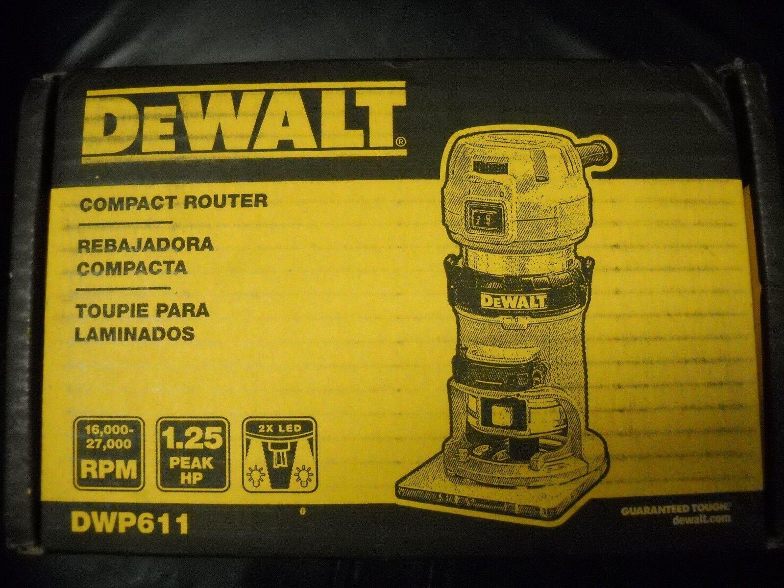 DeWALT DWP611 1.25HP Compact Premium VS Woodworking Router T