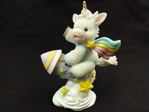 Vintage Enesco 1995 Unicorn Figurine Starlight Starbright Rainbow Rocket Cloud