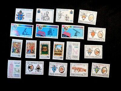 VATICAN CITY Stamp Lot Scott 645-647, 654-656, 648-651, 652-653 MNH
