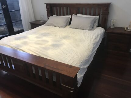 Wanted: King bed with bedside tables